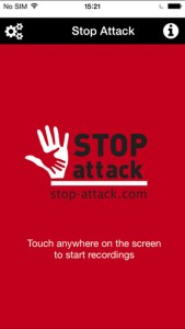 The red screen shows STOP-ATTACK's stand-by mode.