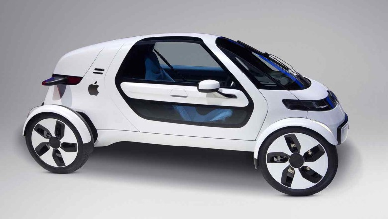 The mythological Apple car. It's actually supposed to look more like a minivan, according to reports. Photo: The Onion