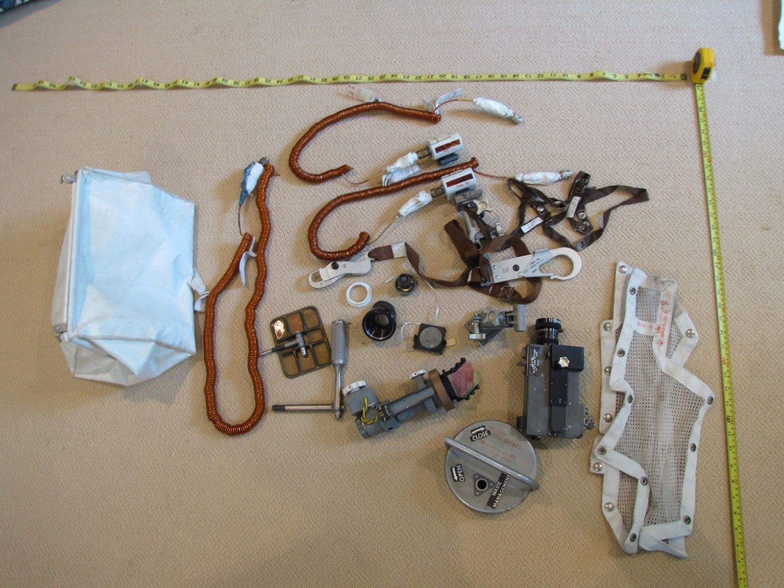 A bag of forgotten moon mission artifacts was found in a closet in Neil Armstrong's home. Carol Armstrong photo: Smithsonian National Air and Space Museum