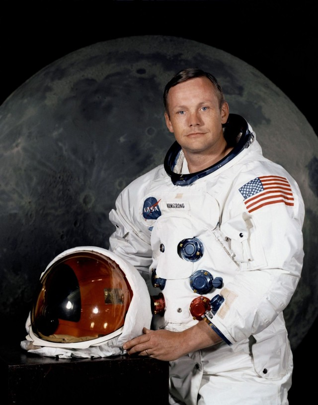 Neil Armstrong, who died in 2012 and was the first man to walk on the moon, left behind a bag of artifacts from that mission. Photo: NASA