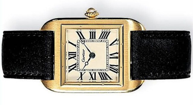 This 1904 watch helped inspire the Apple Watch. Photo: Cartier