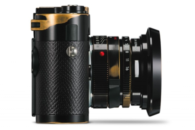 Rocker Lenny Kravitz helped Leica design a limited edition camera that has been deliberately aged by hand. Photo: Leica