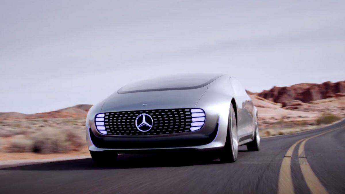 Mercedes concept car from CES 2015. Photo: Mercedes