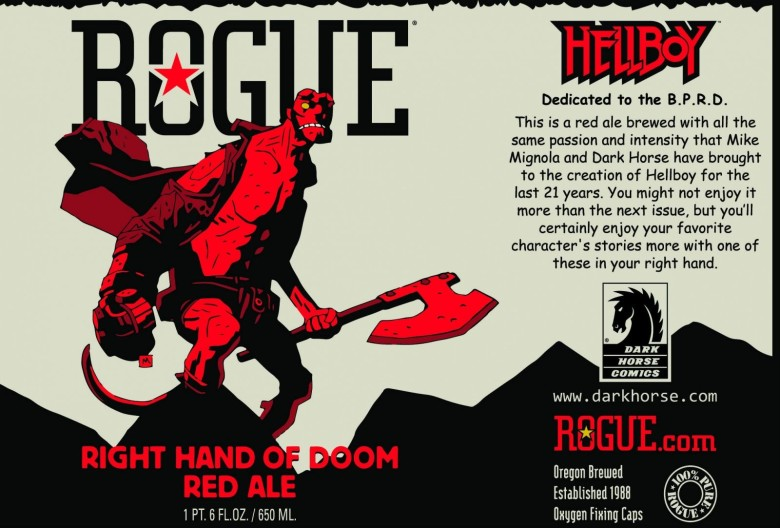 Hell yes! Rogue's devilish Right Hand of Doom Red Ale looks worthy of Hellboy. Photo: Rogue Ales