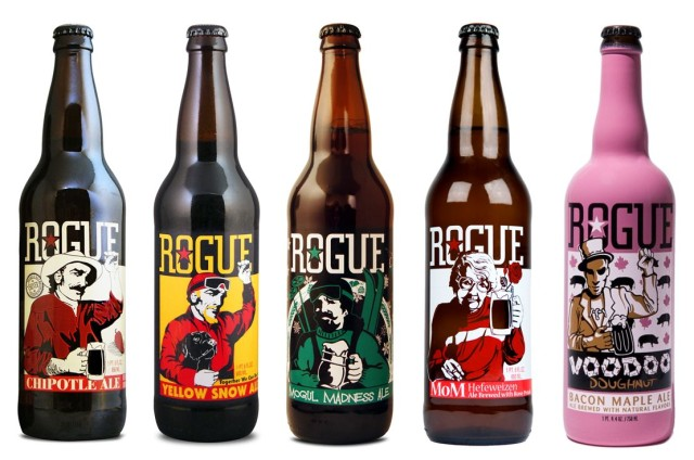 Who says all the good stuff should be inside the bottle? Photo: Rogue Ales