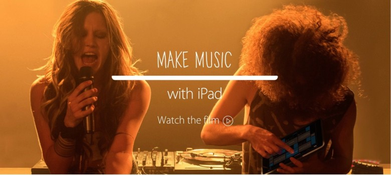 Apple's ad at the Grammy's tonight shows how the iPad uses music. Photo: Apple