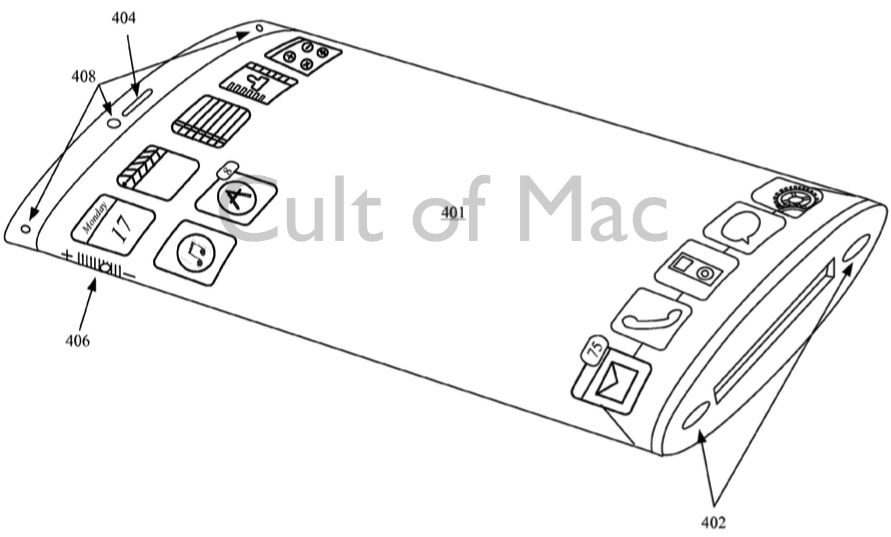 Bezels, what bezels? Photo: Apple/USPTO