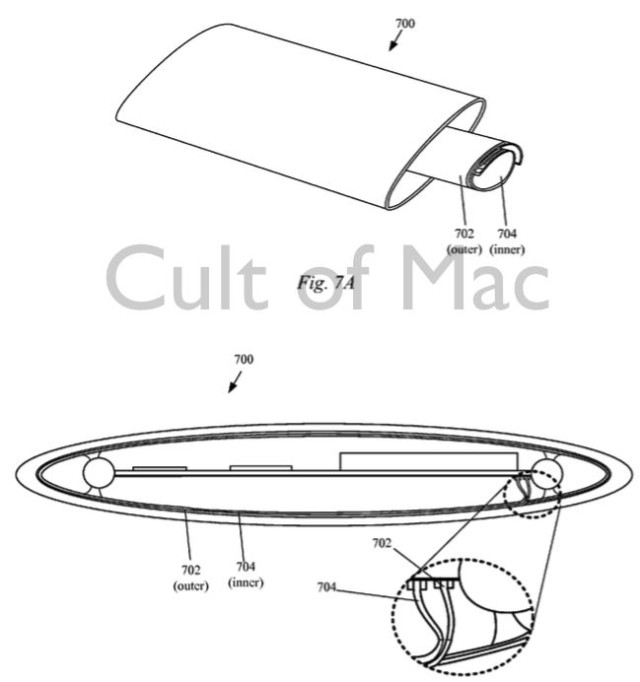 Patent design shows how the internal components would slot in to future iPhone.