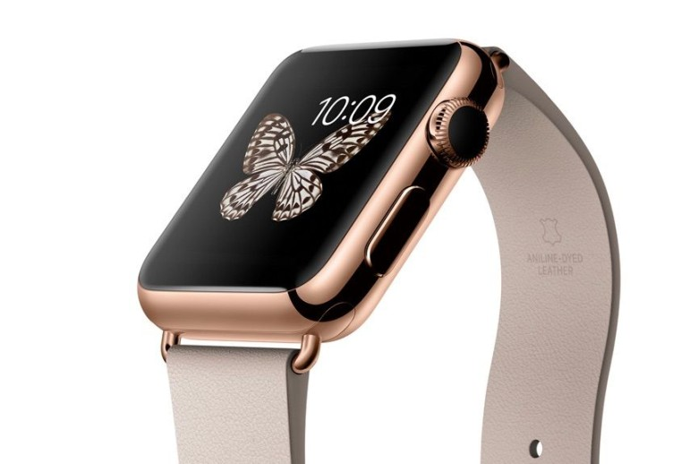 38mm rose gold Apple Watch Edition. Photo: Apple