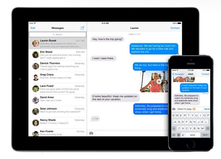 iMessages are safer from the NSA. Photo: Apple