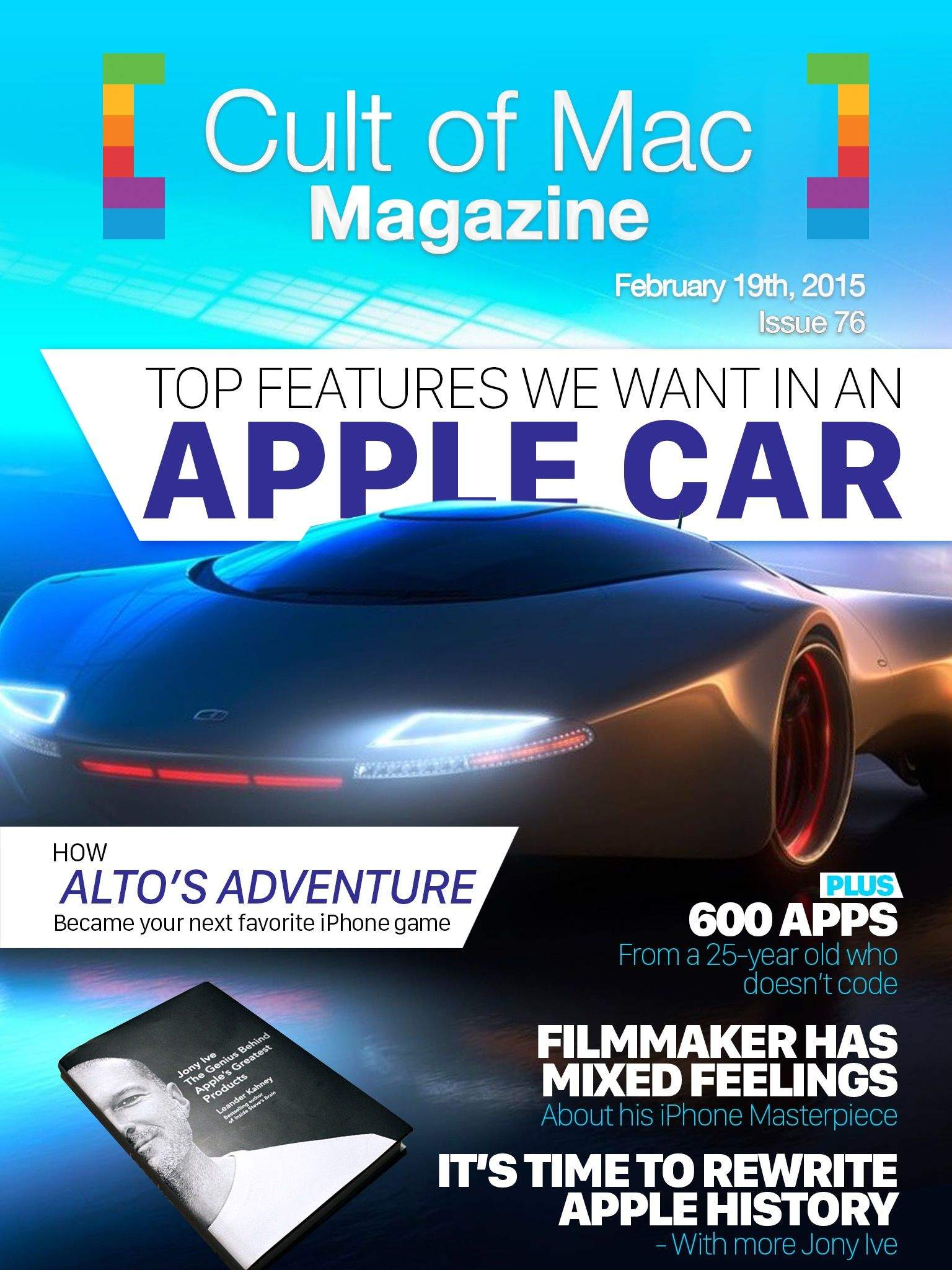 What will the Apple Car even look like? Cover design: Stephen Smith