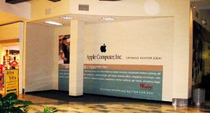 What a difference a decade makes. This photo shows the Oakridge Mini-Store just before it opened. Photo: ifoAppleStore