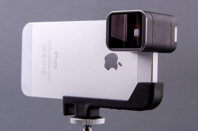 The anamorphic adaptor lens by Moondog Labs. Photo: Moondog Labs