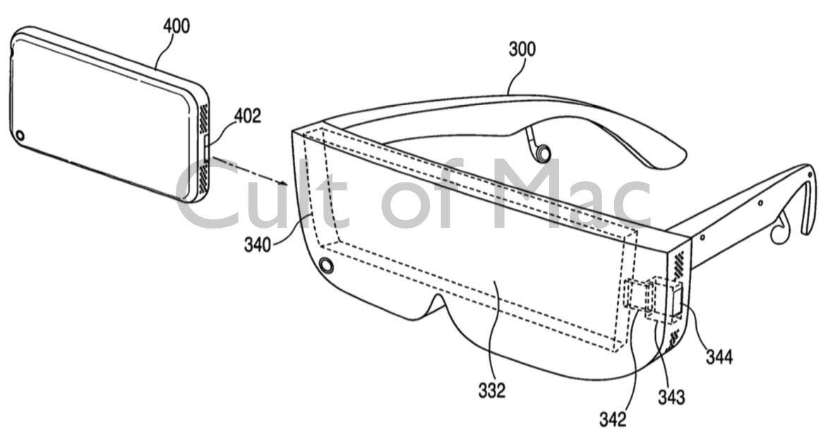 Virtual reality was one of the first iPhone accessories Apple considered. Photo: USPTO/Apple