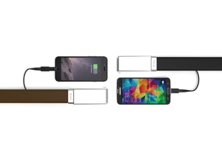 The XOO Belt contains a flexible lithium ceramic polymer batter that charges your smart phone. Photo: XOO