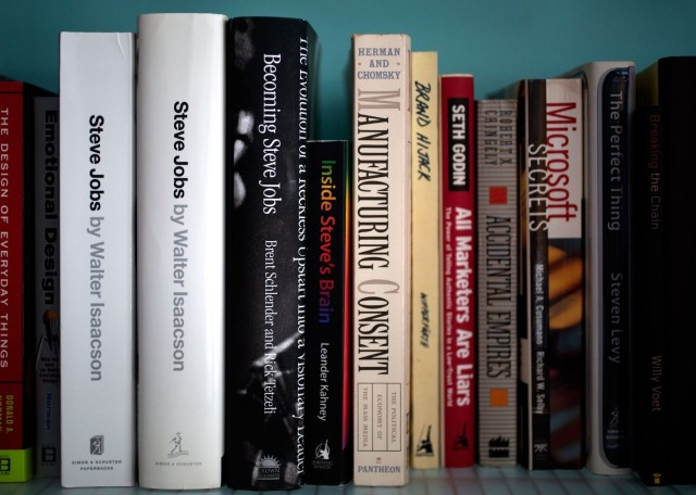 Will Becoming Steve Jobs find a place on your bookshelf? Photo: Jim Merithew/Cult of Mac