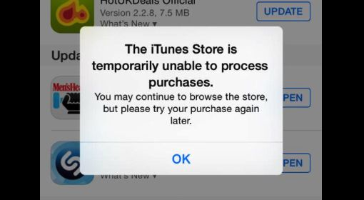 itunes store is unable to process purchases at this time 2019