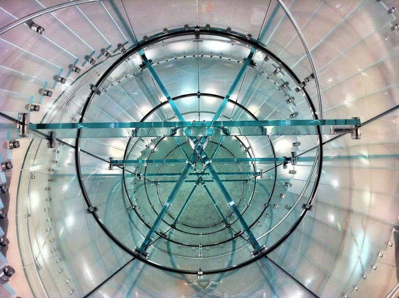 The Apple Store on  Boylston Street in Boston boasts a remarkable spiral staircase. Photo: Joseph Thornton/Flickr CC