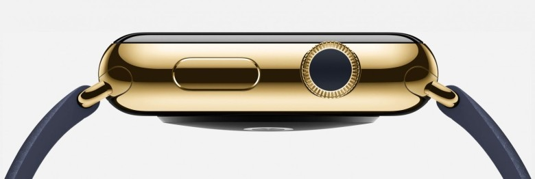 Ladies and gentlemen, the 18-karat gold Apple Watch Edition, which is  an aspiration, price-anchor, according to Reddit. Credit: Apple