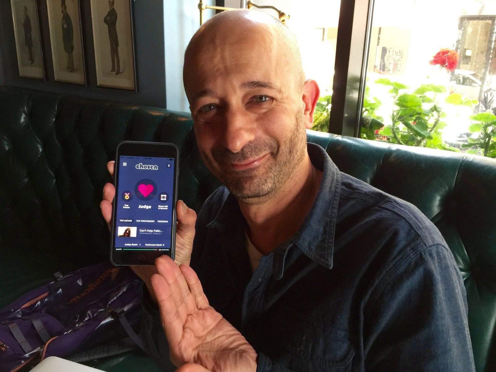 David Hyman demos his latest dream project: Chosen. Photo: Rob LeFebvre/Cult of Mac