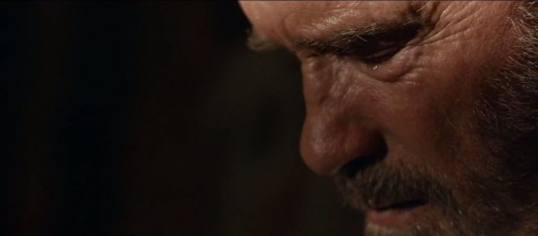 Real men cry, especially when they may have to kill their zombie daughters. Photo: Lionsgate Films