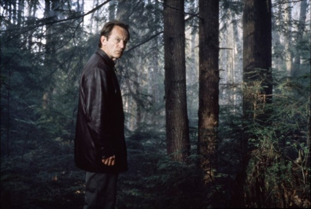 Frank Black spends a lot of time in creepy woods. Apparently, that's a pretty popular place to hide bodies. Photo: Fox