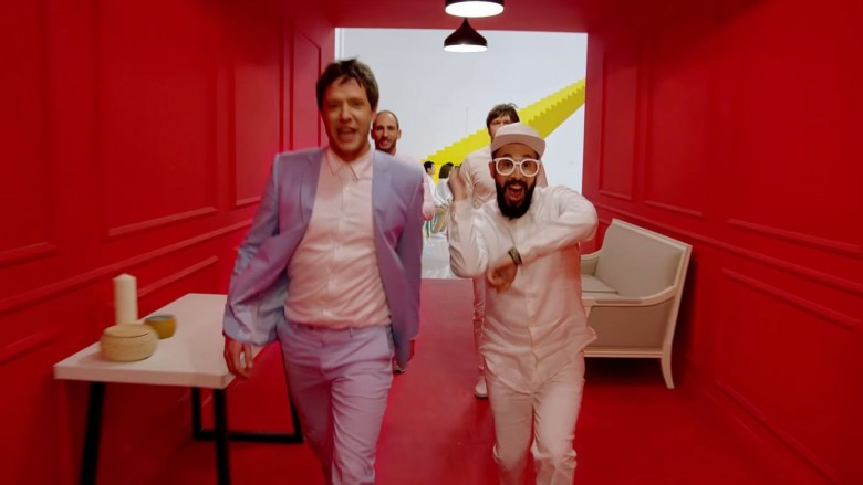 The boys are back...in a Chinese commercial. Photo: OK Go/Red Maccaline