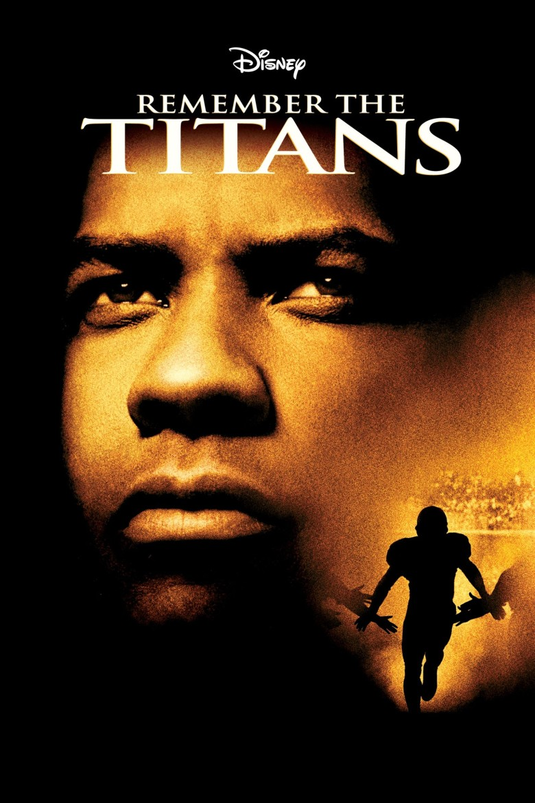 Remember the Titans is a movie starring Denzel Washington as a shouty coach who turns a disorganized football into a crack, disciplined outfit. Credit: Disney