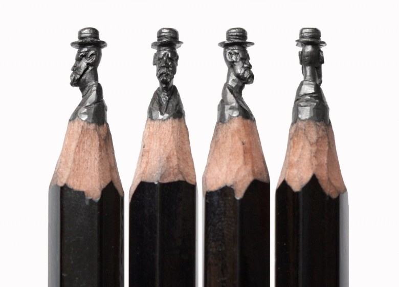 Russian artist Photo: Salavat Fidai carves detailed sculptures into the point of a pencil lead. Photo: Photo: Salavat Fidai