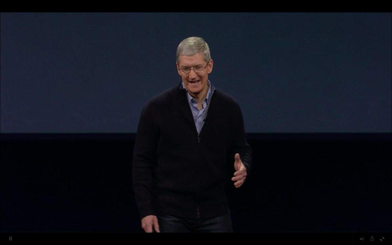 Cook has Apple's momentum rocketing along. Photo: Apple