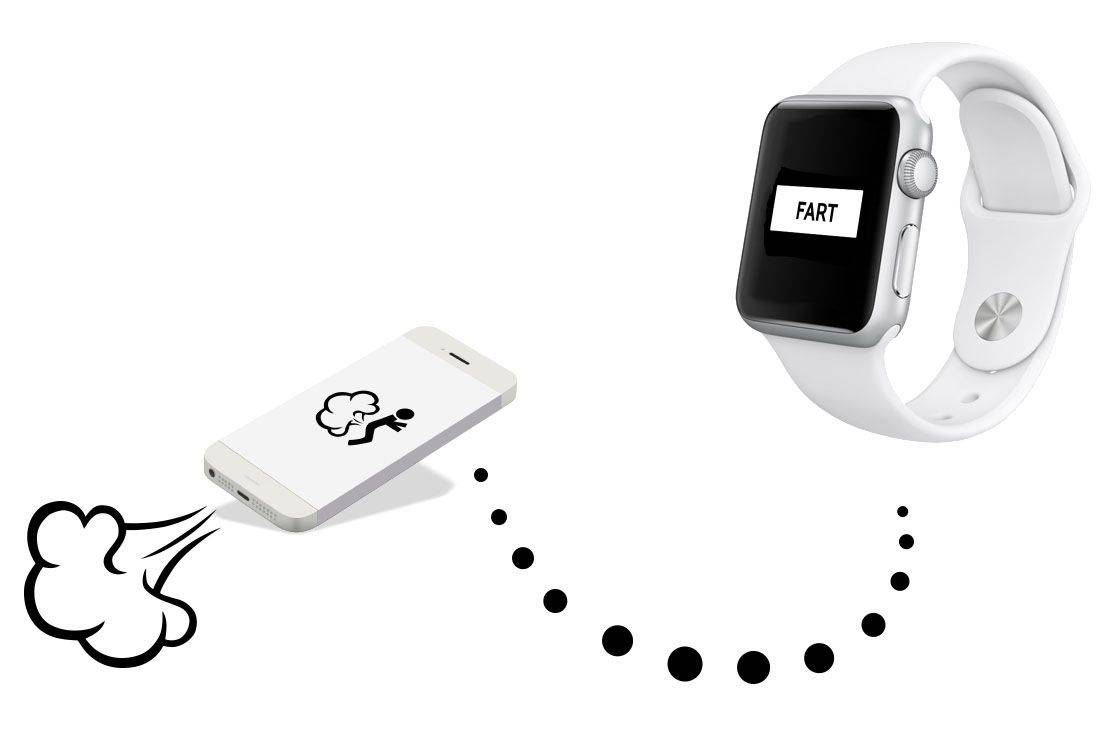 Oh god. Here come the Apple Watch fart apps. Photo: Fart Watch
