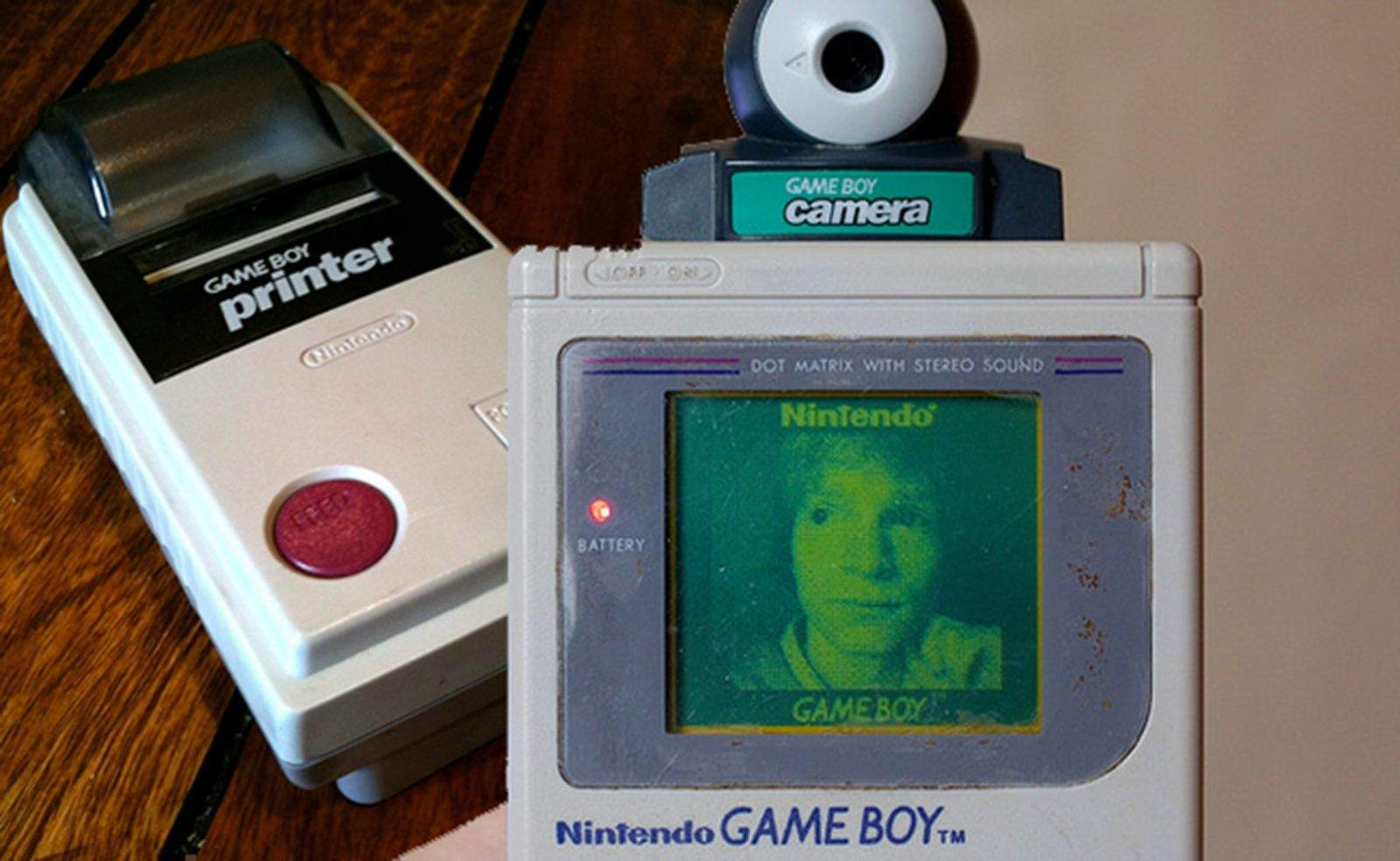 Towards the end of the life of the Game Boy player, Nintendo added a camera attachment. Photo: Solopress