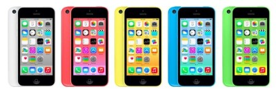 The handset in question is a 2013-era iPhone 5c.