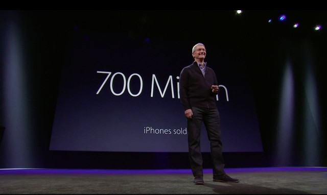Tim Cook has this many reasons to brag. Photo: Apple