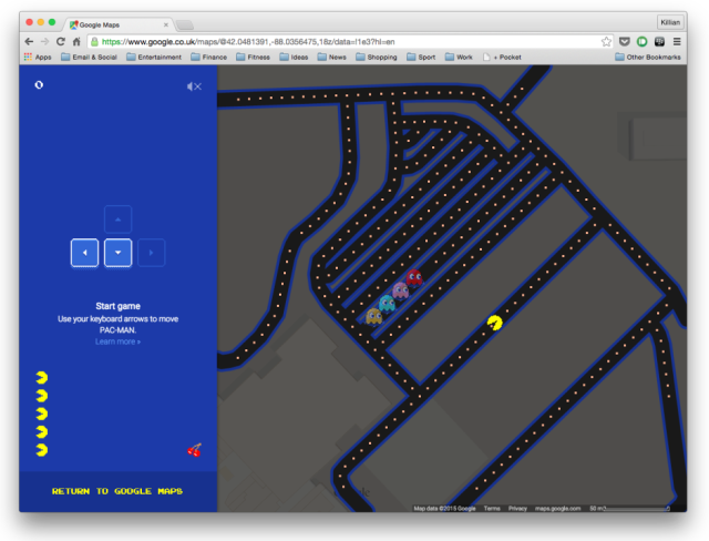 Google puts Pac-Man inside your Maps | Cult of Mac