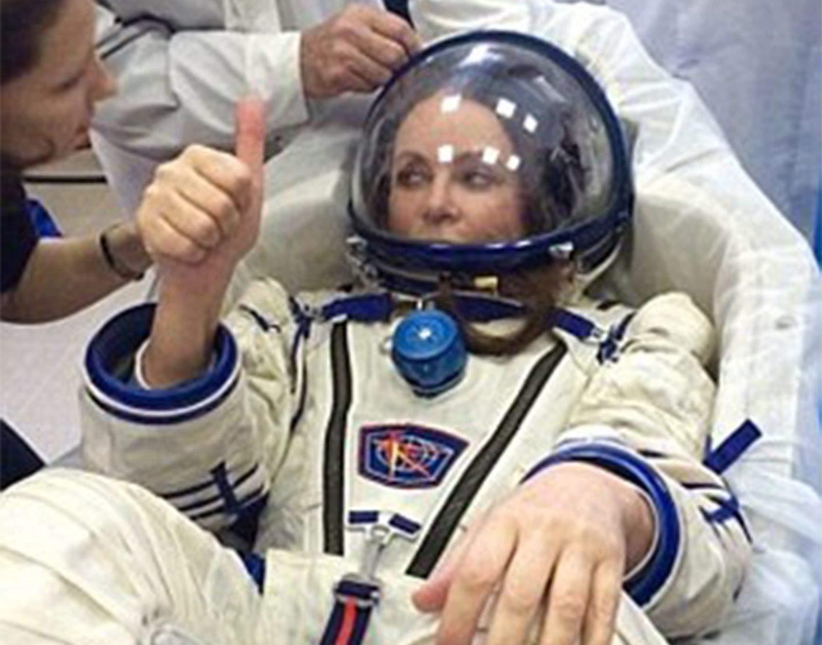 British singer Sarah Brightman during training at Star City in Russia. Photo: Yuri Gagarin Cosmonaut Training Center