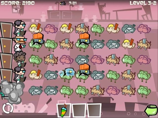 Must ... match ... brains ... in upcoming game Zombie Match Defense. Photo: Shovelware Games