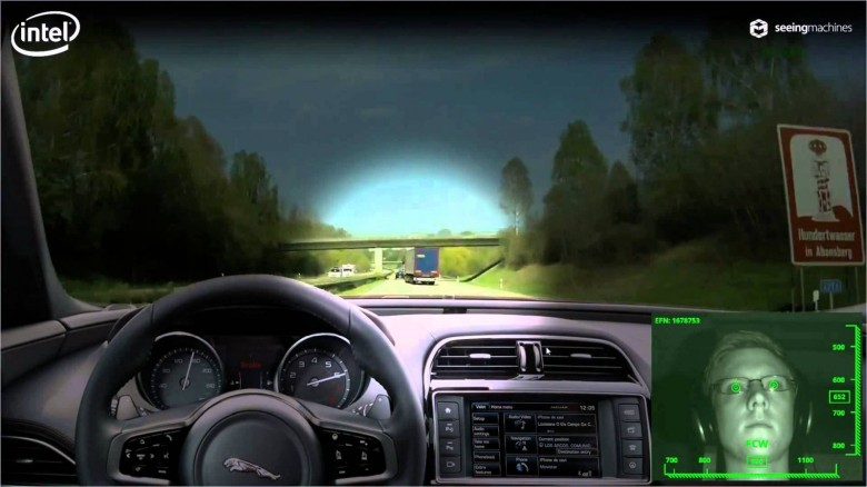 Seeing Machines of Australia has developed in-vehicle cameras that can track blinking and eye gaze and sound an alert if fatigue is distracting a driver's eyes from the road. Photo: Seeing Machines