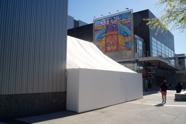What mysteries are concealed behind Apple's tiny white tent? Photo: Jim Merithew/ Cult of Mac