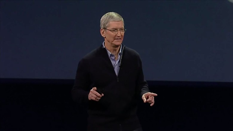 Tim Cook really, really loves the latest Apple products. Photo: Apple