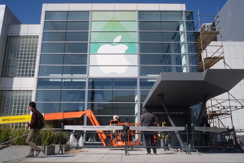 Apple is taking over the Yerba Buena Center. Photo: Jim Merithew/Cult of Mac