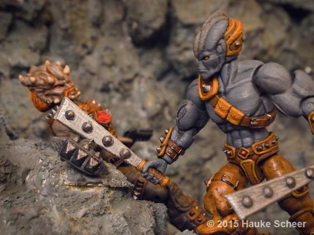 Space Scavenger versus Space Pirate. Photo: Hauke Scheer