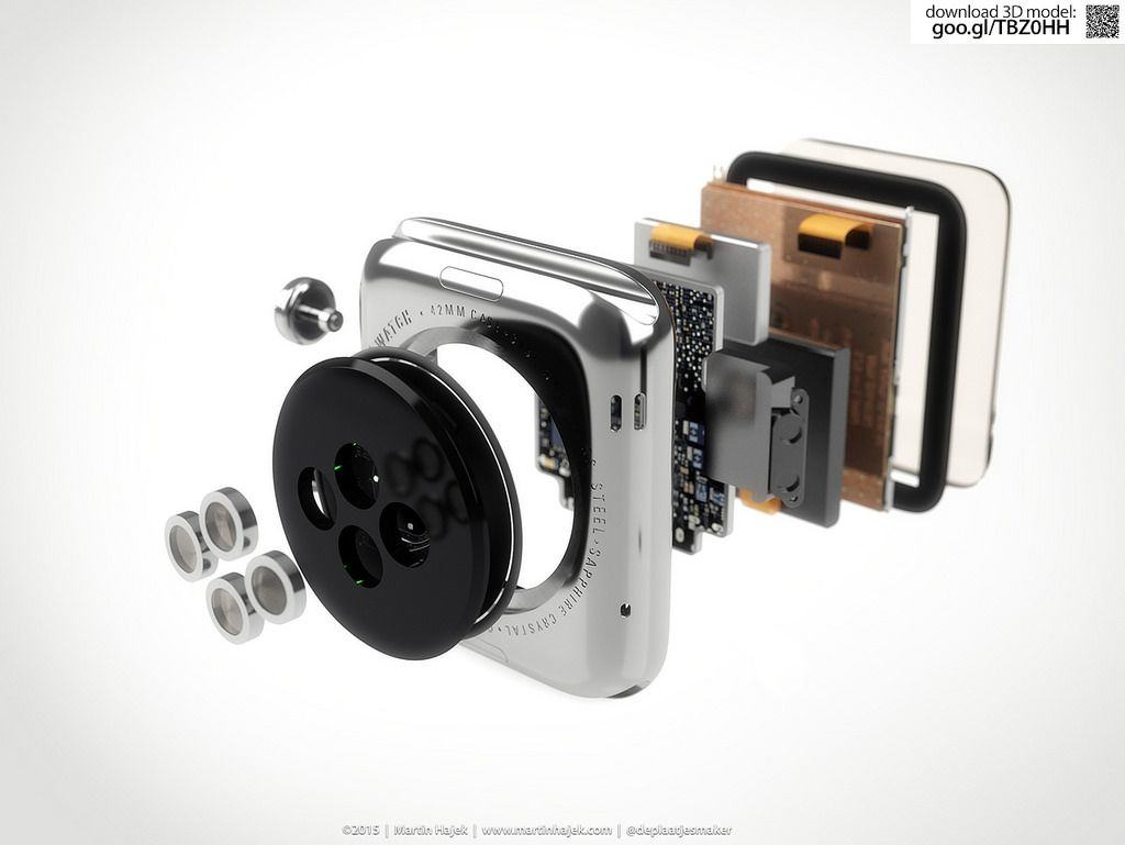 A series of renderings show what the Apple Watch could look like on the inside. Photo: Martin Hajek