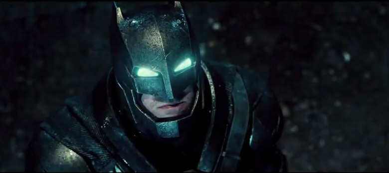 The Dark Knight gets headlights in the first trailer for Batman v. Superman. Photo: Warner Bros. Pictures