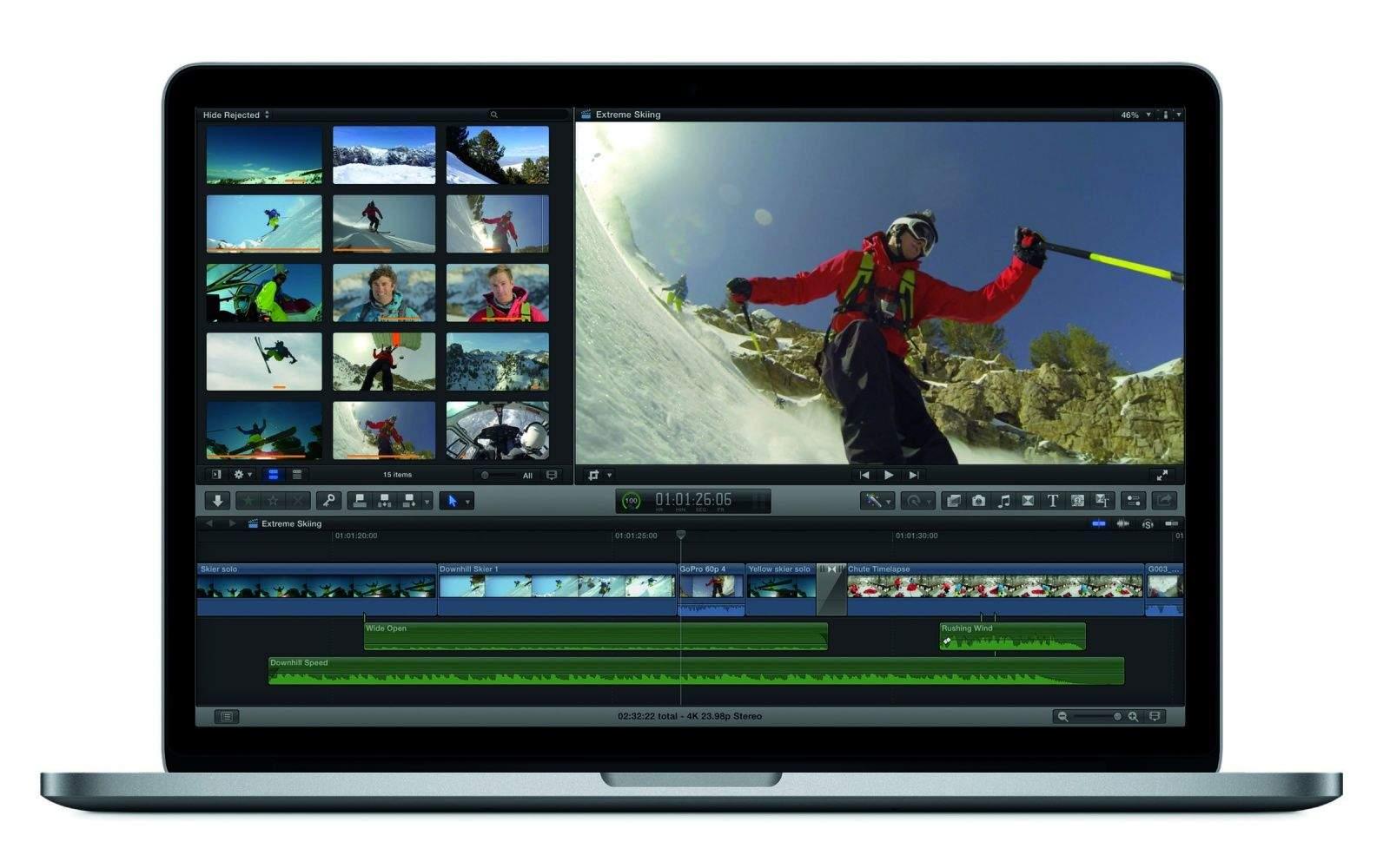 Final Cut Pro X on the MacBook Pro. Photo: Apple