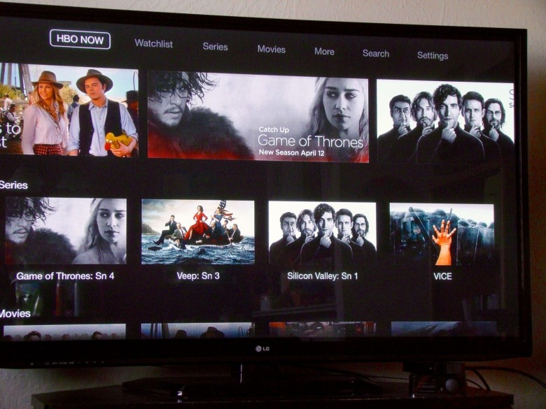 HBO Now on the big screen. Photo: Rob LeFebvre/Cult of Mac