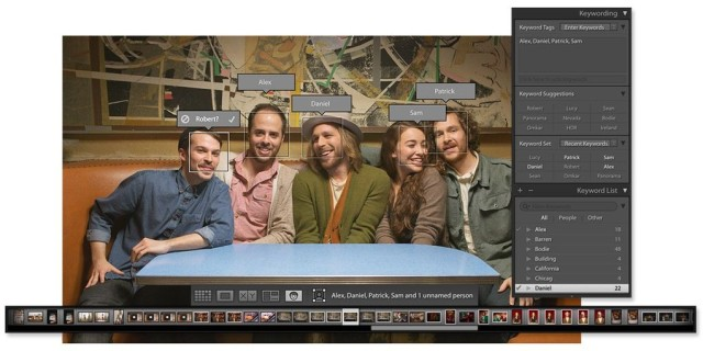 Facial recognition in Lightroom 6. Photo: Adobe