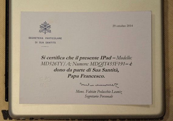 Pope Francis' iPad