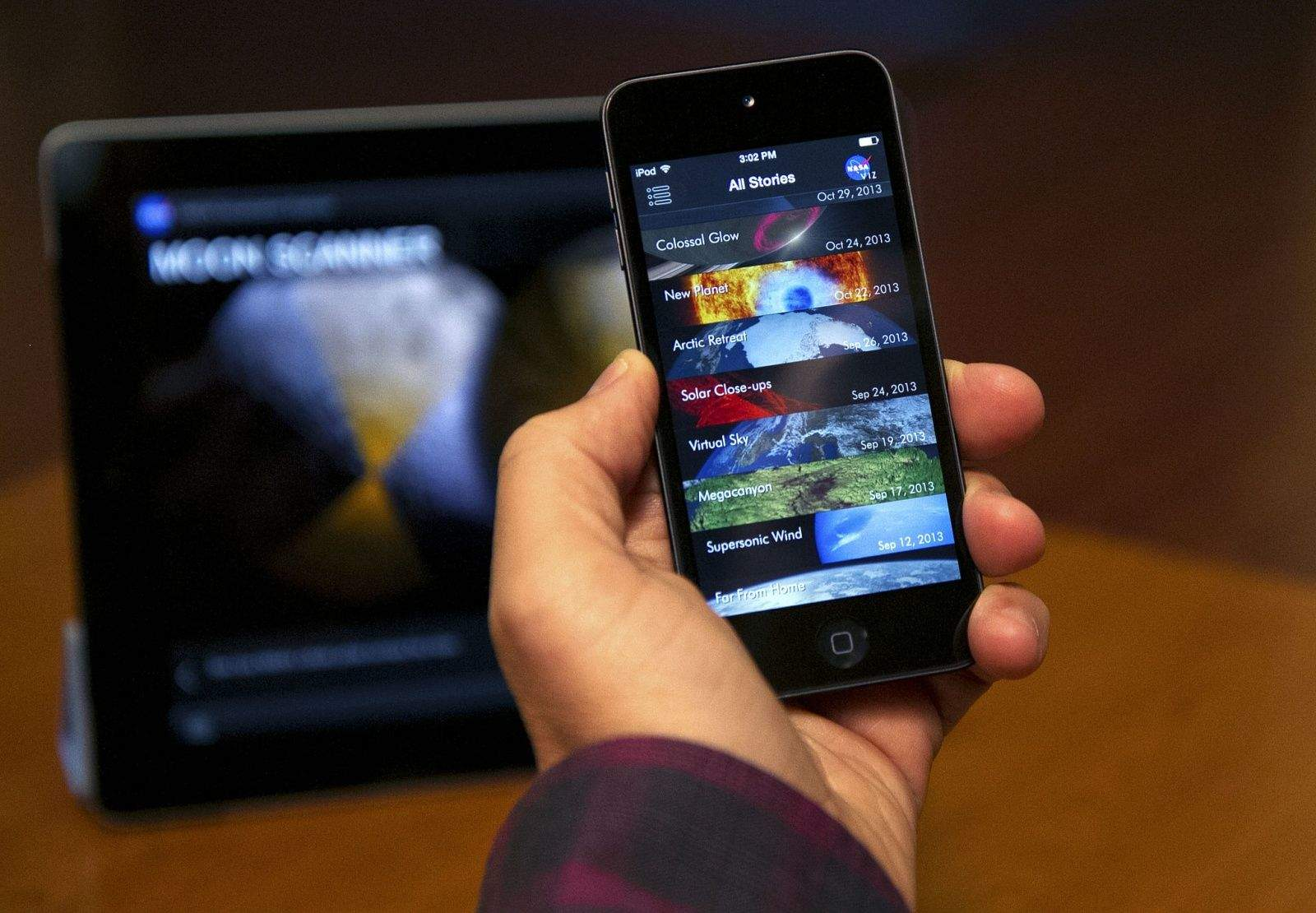 The NASAViz Universal app. Photo: NASA Goddard Space Flight Center/Flicker CC