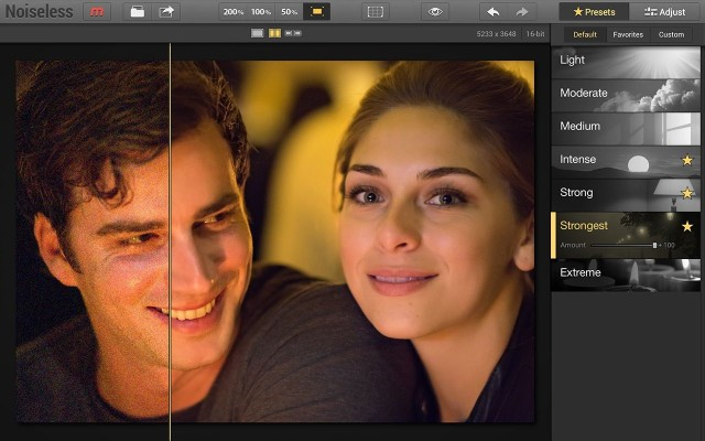 """The Noiseless app for Mac makes it easy to remove """"noise"""" from photos shot in low-light conditions. Photo: Macphun"""